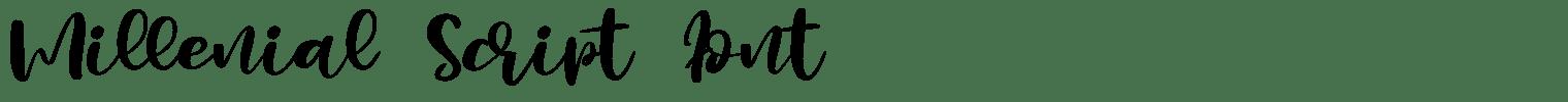 Millenial Script Font