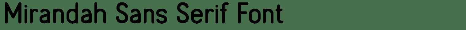Mirandah Sans Serif Font
