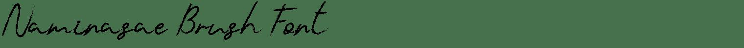 Naminasae Brush Font