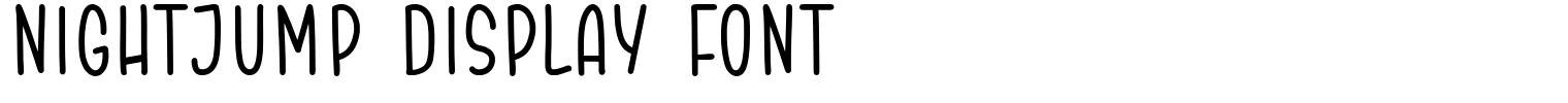 NIGHTJUMP Display Font