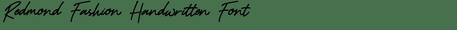 Redmond Fashion Handwritten Font