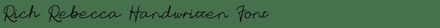 Rich Rebecca Handwritten Font