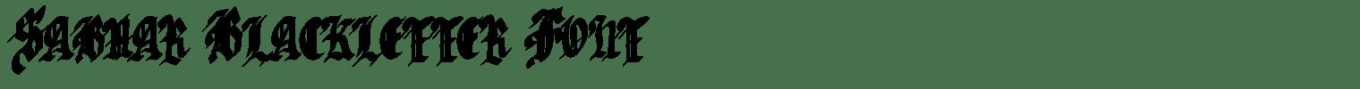 Sabhar Blackletter Font