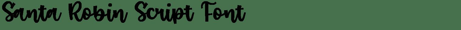Santa Robin Script Font