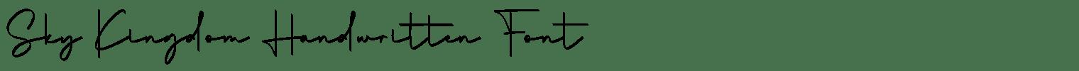 Sky Kingdom Handwritten Font