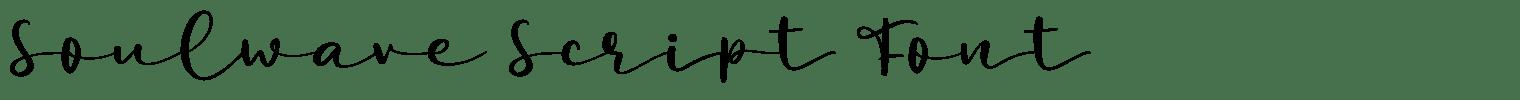 Soulwave Script Font