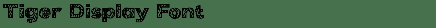 Tiger Display Font