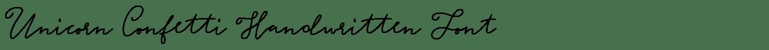 Unicorn Confetti Handwritten Font