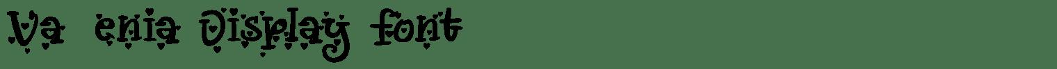 Vallenia Display Font