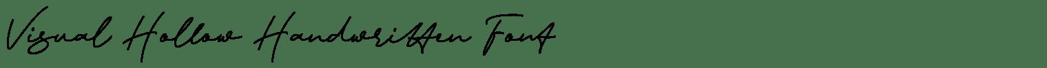 Visual Hollow Handwritten Font