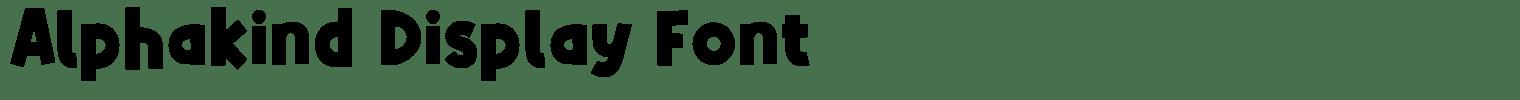 Alphakind Display Font