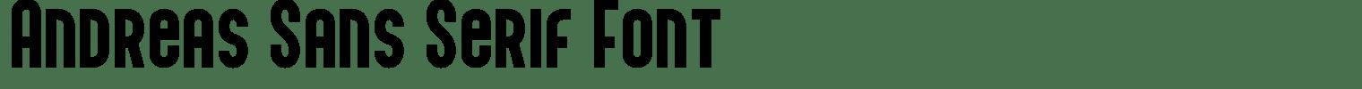 Andreas Sans Serif Font