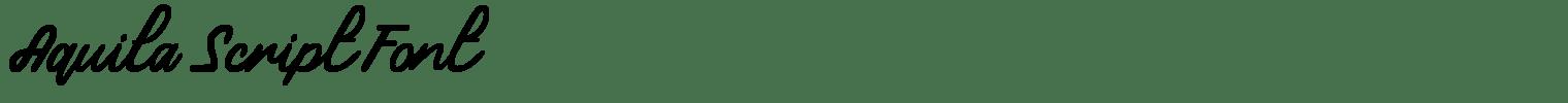 Aquila Script Font