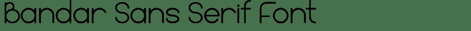Bandar Sans Serif Font