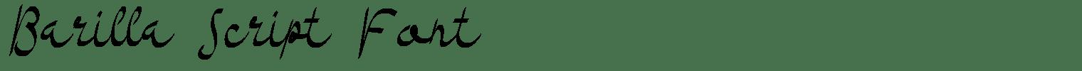 Barilla Script Font