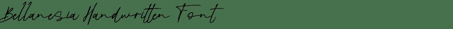 Bellanesia Handwritten Font