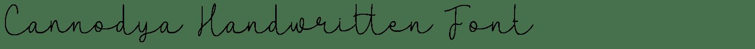 Cannodya Handwritten Font
