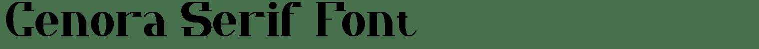 Cenora Serif Font