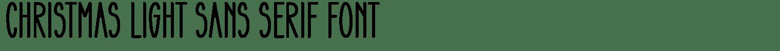 Christmas Light Sans Serif Font