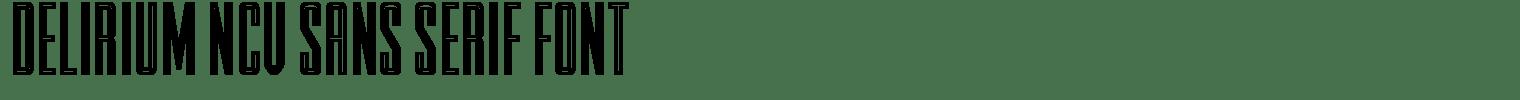 Delirium NCV Sans Serif Font