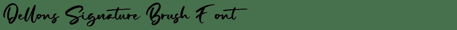 Dellons Signature Brush Font