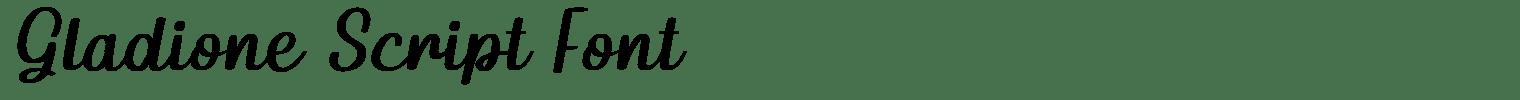 Gladione Script Font