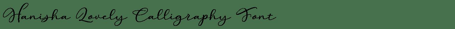 Hanisha Lovely Calligraphy Font