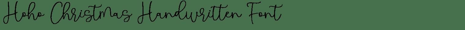 Hoho Christmas Handwritten Font