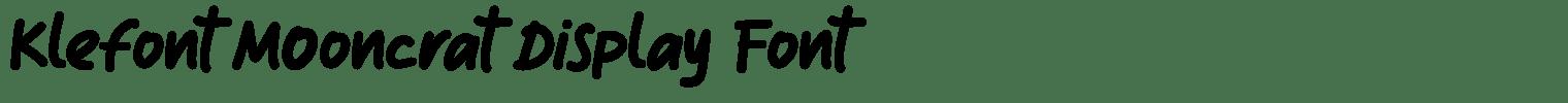 Klefont Mooncrat Display Font