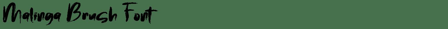 Malinga Brush Font