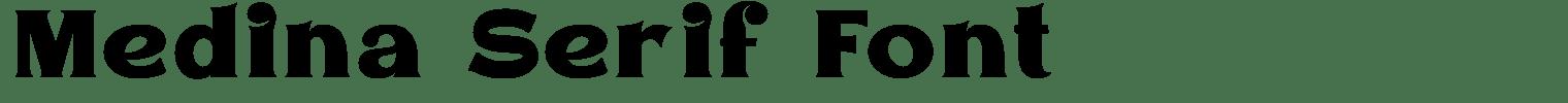 Medina Serif Font