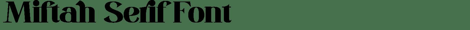 Miftah Serif Font