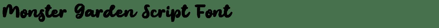 Monster Garden Script Font