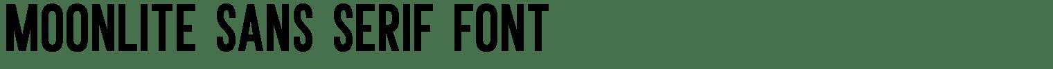 Moonlite Sans Serif Font
