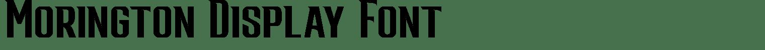 Morington Display Font