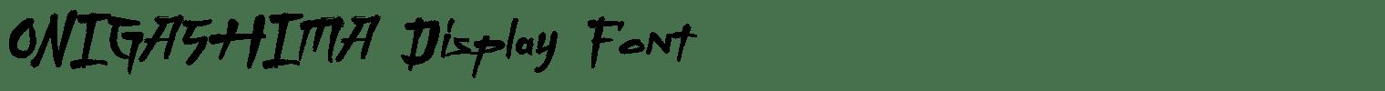 ONIGASHIMA Display Font