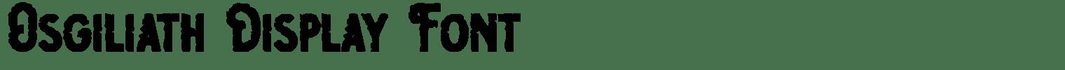 Osgiliath Display Font