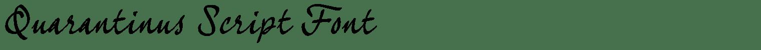 Quarantinus Script Font