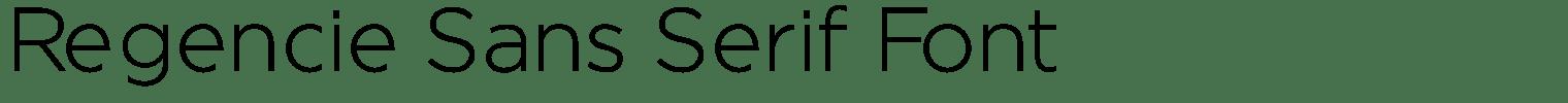 Regencie Sans Serif Font