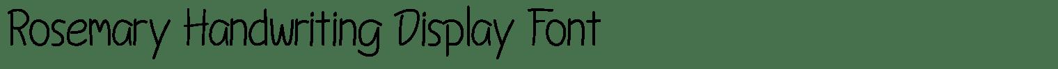 Rosemary Handwriting Display Font