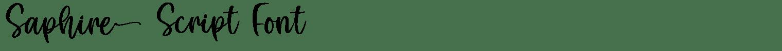 Saphire Script Font