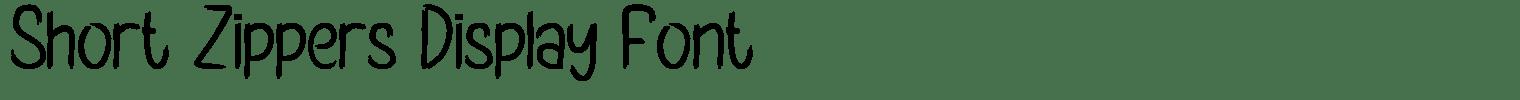 Short Zippers Display Font