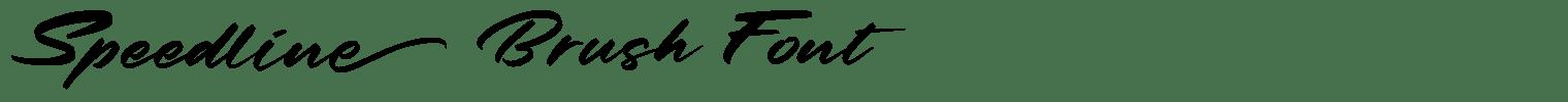 Speedline Brush Font