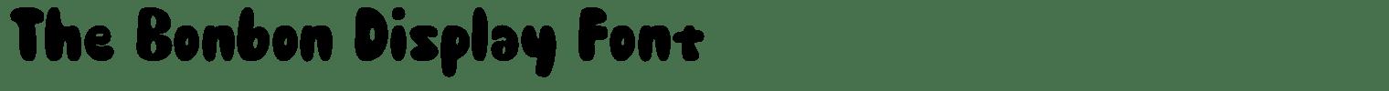 The Bonbon Display Font