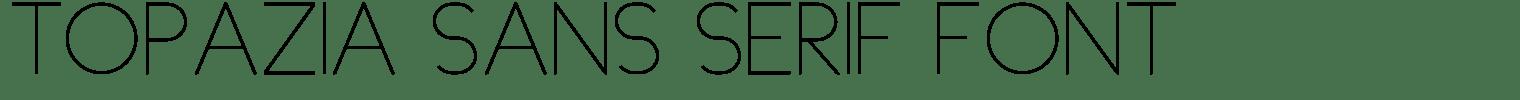 Topazia Sans Serif Font