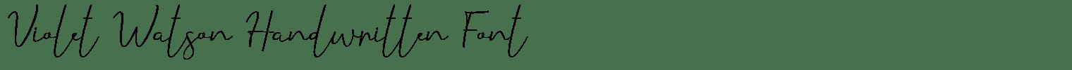 Violet Watson Handwritten Font