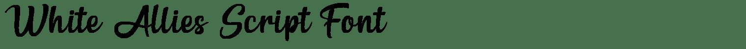 White Allies Script Font