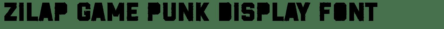 ZILAP GAME PUNK Display Font