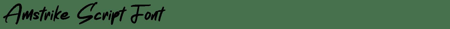 Amstrike Script Font