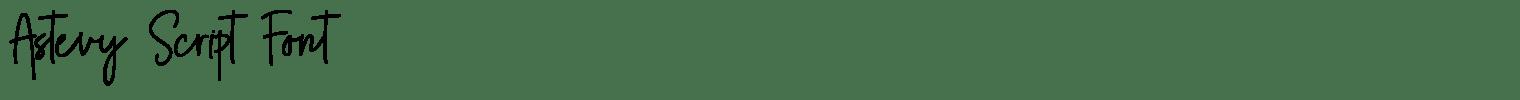 Astevy Script Font